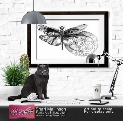 Sundial Dragonfly, Print