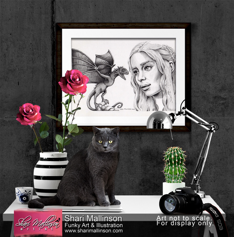 Emilia Clarke GoT, Print.