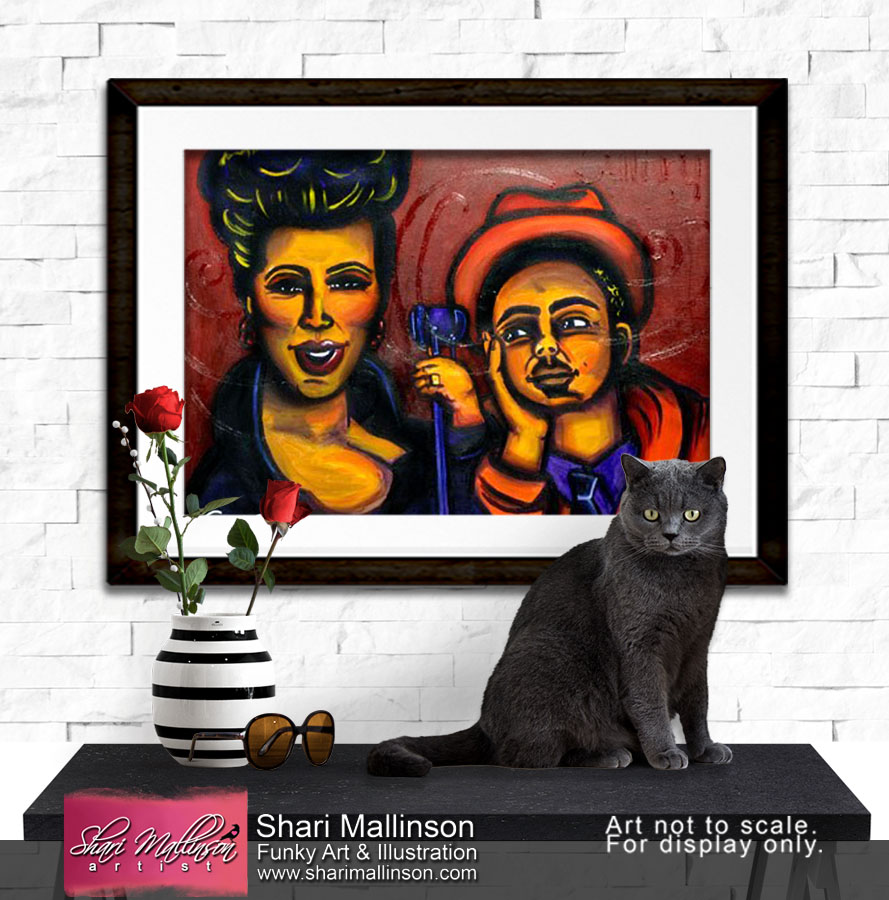 Sultry, Jazz Series, Print