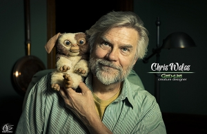 Chris Walas & Gizmo, by Fred China
