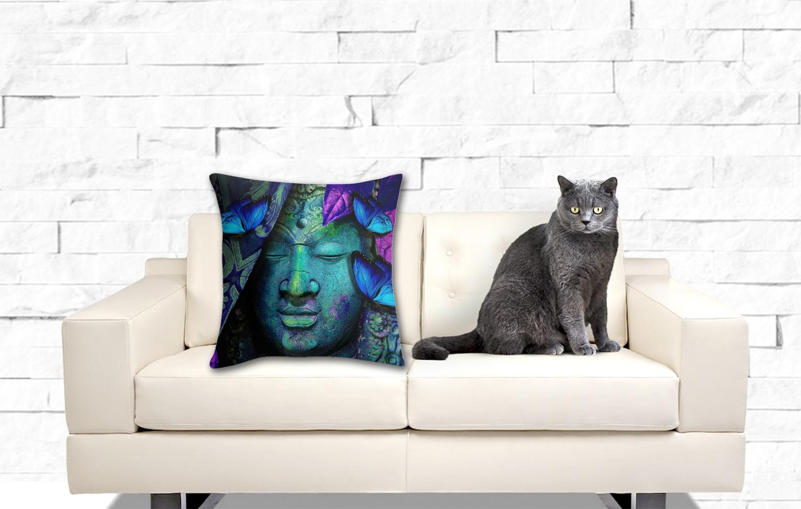 Buddha's Butterflies, Throw Pillow Cover