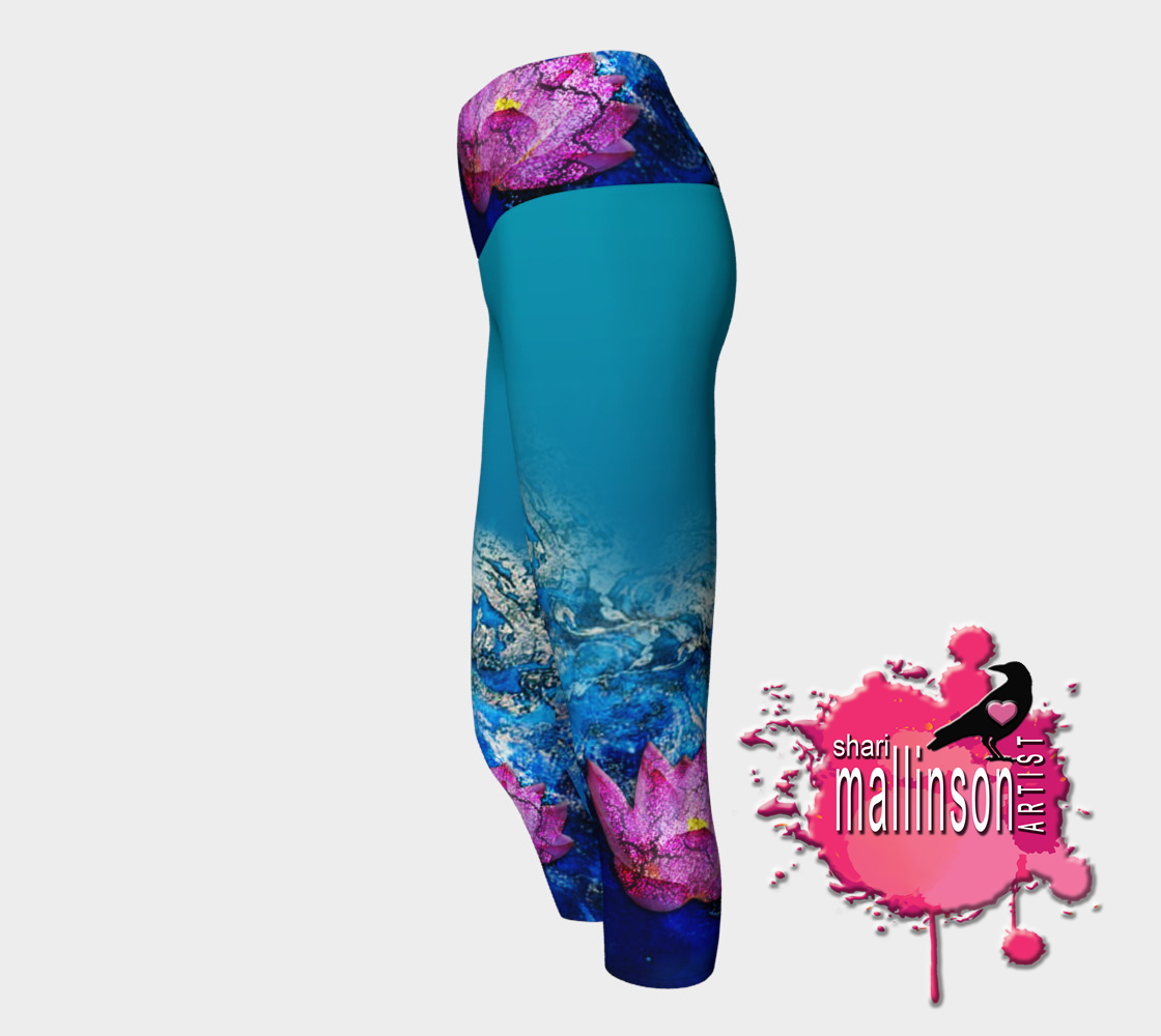 Ganesh's Lotuses Capris (Side View)