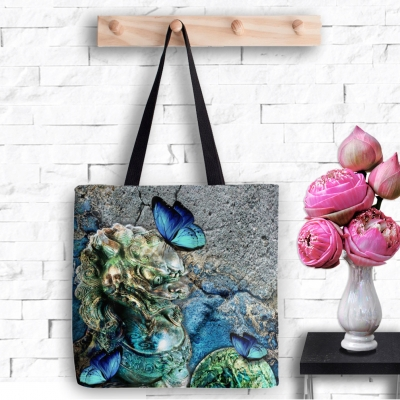 Water Foo Dog, Tote Bag