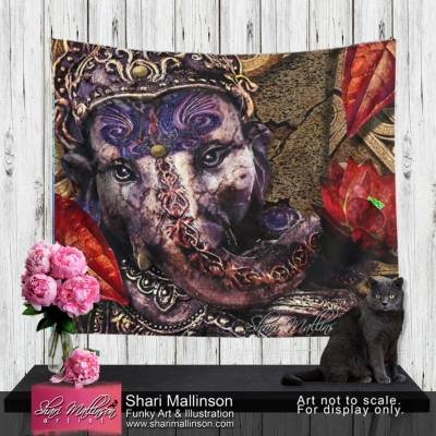 Ganesh's Lotus Fire, Tapestry