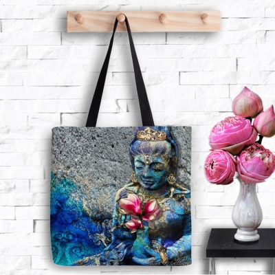 Water Quan Yin, Tote Bag