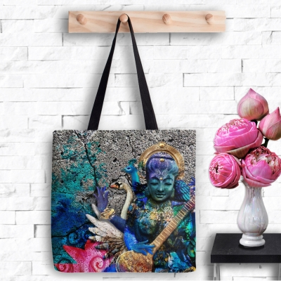 Water Saraswati, Tote Bag